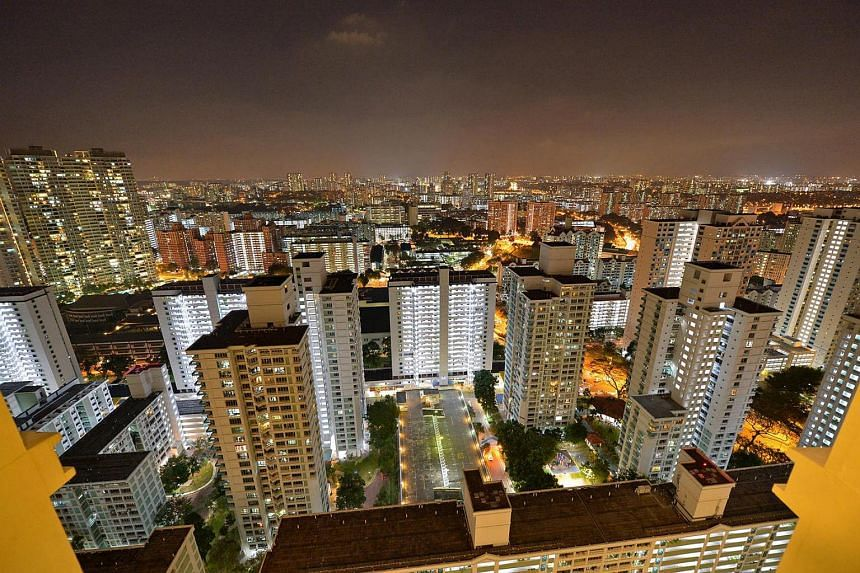 A view of the high-rise HDB flats in Toa Payoh.