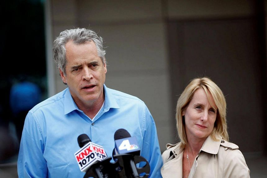 James Otis, the man who admits vandalizing Donald Trump's star on the Hollywood Walk of Fame, speaks to the media with his attorney Mieke ter Poorten about his arrest outside of the LAPD Metropolitan Detention Center in Los Angeles, California on Oct