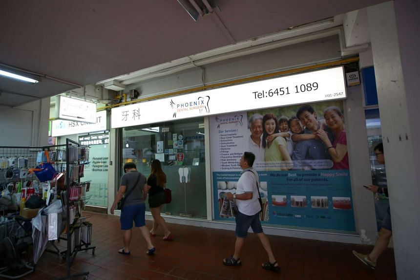 Phoenix Dental Surgery clinics in Ang Mo Kio and Marine Parade were suspended in July from participating in the Community Health Assist Scheme for making false claims and flouting guidelines.