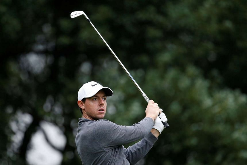 Northern Ireland's Rory McIlroy in action at the WGC-HSBC Champions Golf Tournament in Shanghai on Oct 28, 2016.