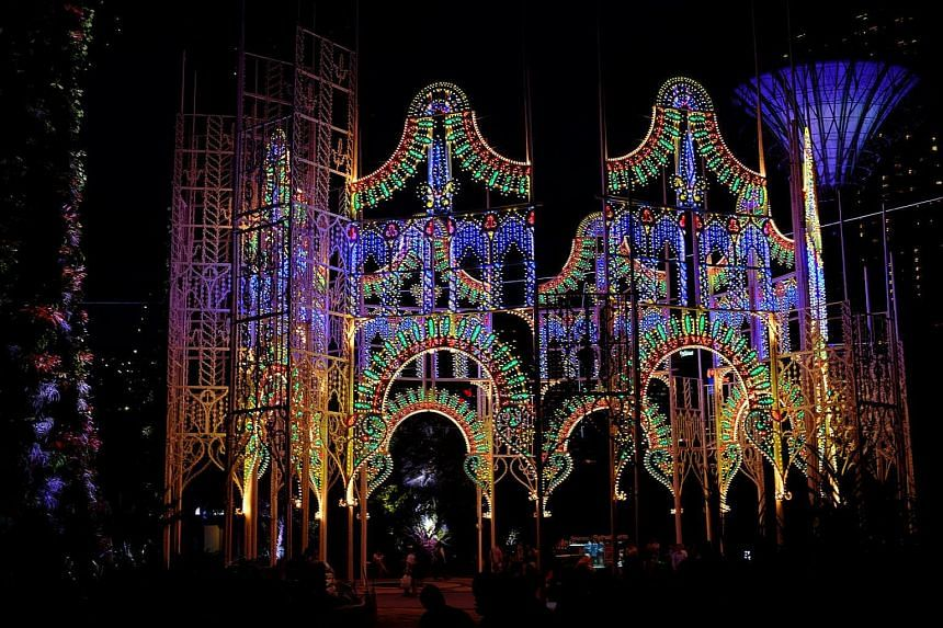 The Spalliera at this year's Christmas Wonderland is the largest Luminarie sculpture.