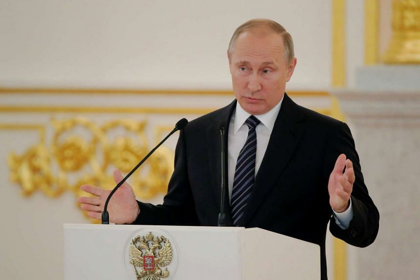 Russian President Vladimir Putin said on Thursday that Russia was showing restraint in Syria, but might lose patience and respond in some way to unspecified actions.
