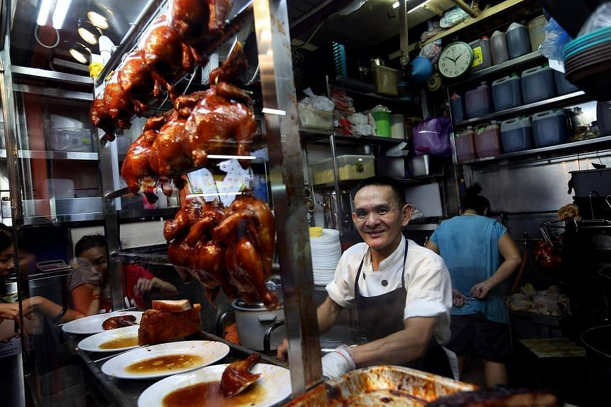 Mr Chan Hon Meng, owner-chef of Michelin-starred hawker stall, Liao Fan Hong Kong Soya Sauce Chicken Rice & Noodle, at Chinatown Food Complex.