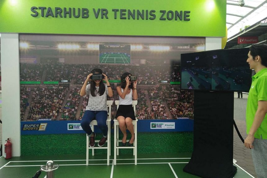 Tennis fans can experience what it is like to be an umpire at the StarHub VR Tennis Zone at the OCBC Square.