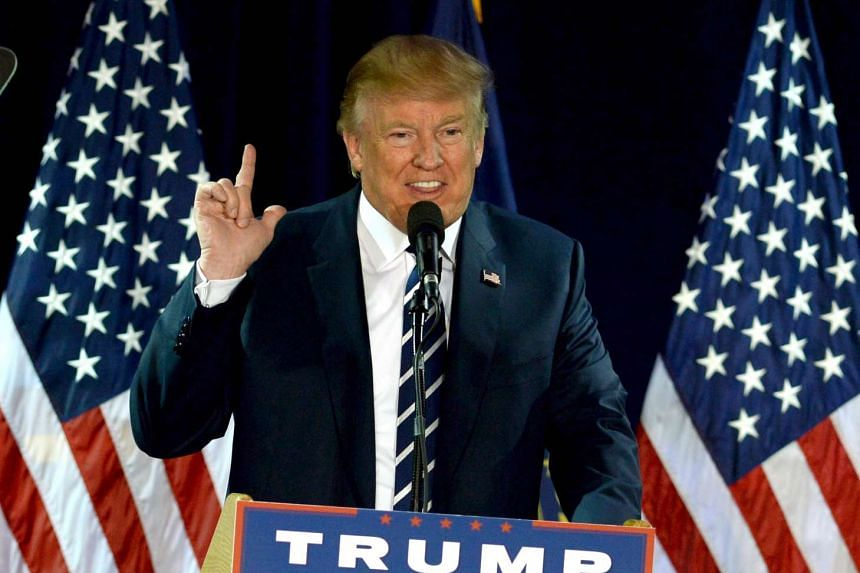Republican presidential nominee Donald Trump speaks at a rally at the Raddison Hotel on Oct 28, 2016.