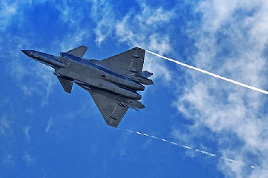 The PLA daily, the People's Liberation Army's official newspaper, shared this image of the J-20 jet on Weibo recently.