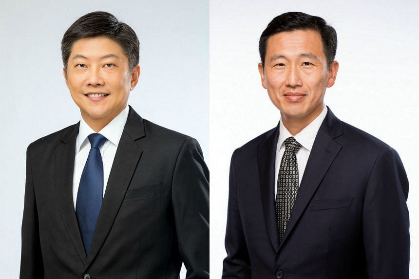 Mr Ng Chee Meng (left) and Mr Ong Ye Kung were elected for the first time in September last year, and their promotions are the first since this Cabinet was formed.
