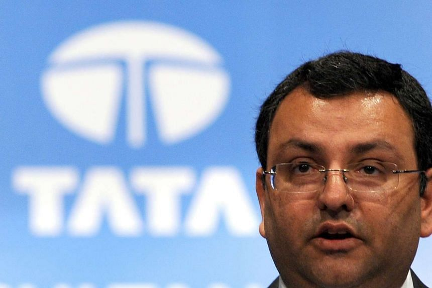 This file photo taken on June 27, 2014 shows Tata Group chairman Cyrus Mistry addressing the 10th Annual General Meeting of Tata Consultancy Services in Mumbai.