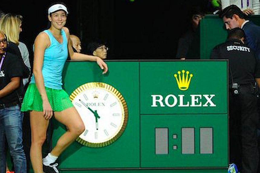 "Calling time on her participation in the WTA Finals at the end of the group stage on Friday, Spain's Garbine Muguruza thanks her fans: ""Time to rest! Thanks for all the support."""