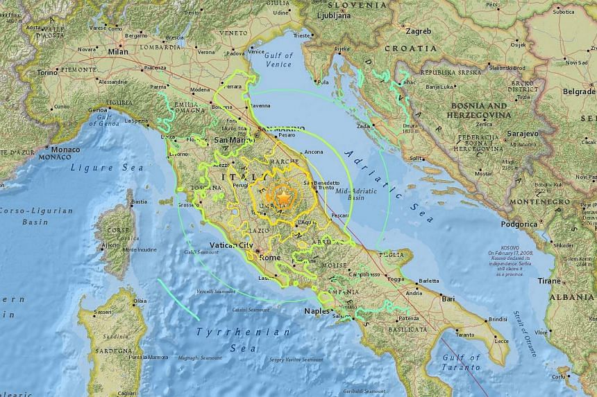 An earthquake measuring 7.1 magnitude struck central Italy, north-east of Rome, on Oct 30, 2016.