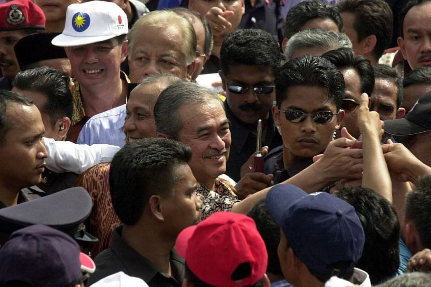 A warm welcome for then PM Abdullah Badawi in Kedah in 2004. Unlike many of his peers, Mr Abdullah does not know how to blow his own trumpet, says the writer. Yet, there were occasions when his firm hand behind the scenes nipped things in the bud bef