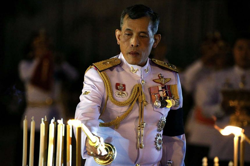 Thailand Crown Prince Maha Vajiralongkorn attends an event commemorating the death of King Chulalongkorn, known as King Rama V, as he joins people during the mourning of his father, the late King Bhumibol Adulyadej, at the Royal Plaza in Bangkok on O