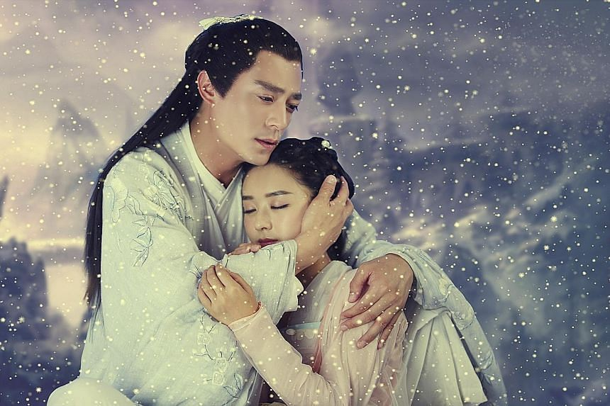Jiang Chenzhou wrote online novel The Journey Of Flower, which was made into a hit TV series starring Wallace Huo and Zanilia Zhao (above).