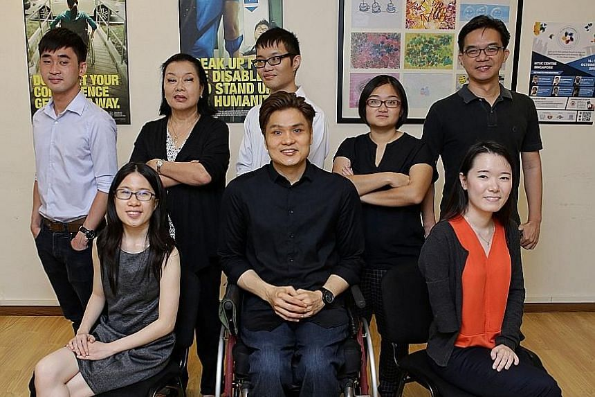 The research team includes (first row from left) Ms Kerri Heng, Mr Lawrence Cai, Ms Jorain Ng; and (second row from left) Mr Marcus Quah, Ms Jan Evans, Mr Timothy Ng, Ms Lisa Loh and Mr Alvan Yap.