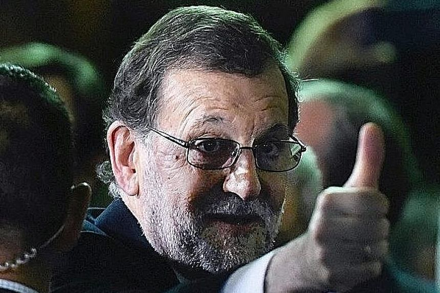 Mr Rajoy plans to continue with his economic policies despite widespread ire over harsh austerity cuts.