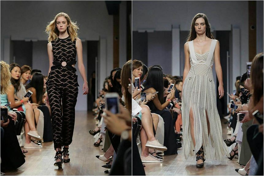 London based label Self Portrait's Spring 2017 collection shows at the main stage at Singapore Fashion Week 2016 on Oct 30, 2016.