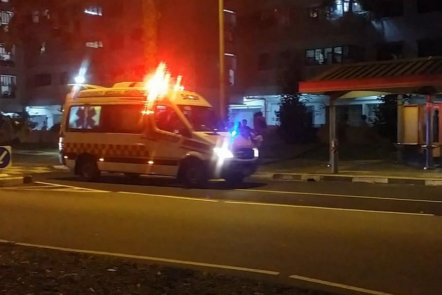 A fire broke out broke out at a Housing & Development Board block at Jurong West on Monday (Oct 31) night.