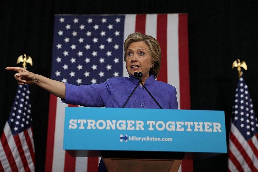 US Democratic presidential nominee former Secretary of State Hillary Clinton speaking during a campaign event at The Manor Complex on Oct 30, 2016.