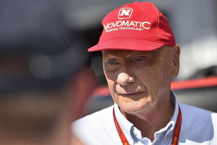 Niki Lauda attending the qualifying session at the Spa-Francorchamps circuit in Spa on Aug 27, 2016, ahead of the Belgian Formula One Grand Prix.
