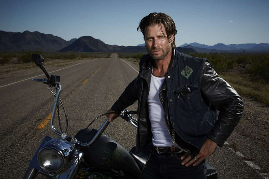 Damon Runyan learnt to ride a motorbike for the drama series, Gangland Undercover.