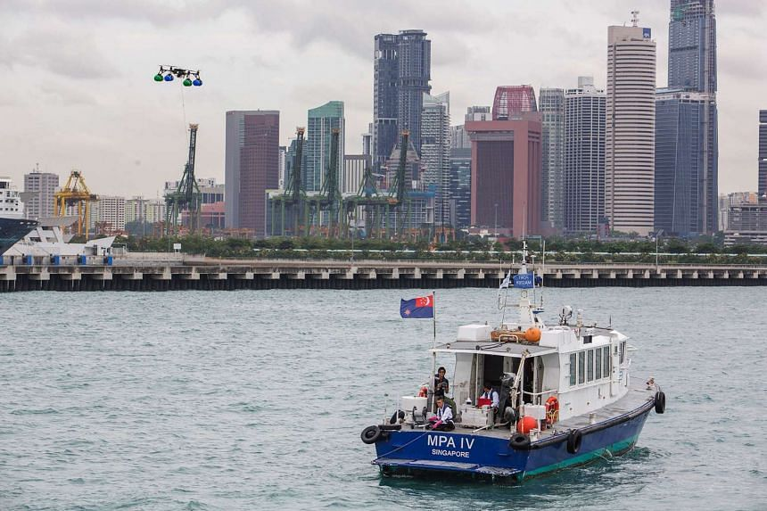Trial of drones, or Unmanned Aircraft Systems, by the Maritime and Port Authority of Singapore for surveillance purposes.