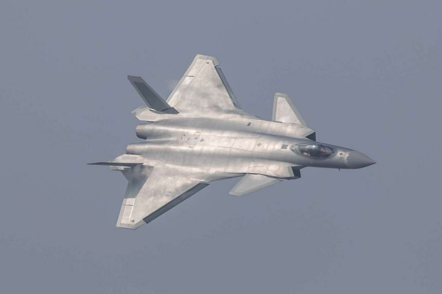 China unveiled its J-20 stealth fighter during an air show in Zhuhai, Guangdong Province, on Nov 1, 2016.