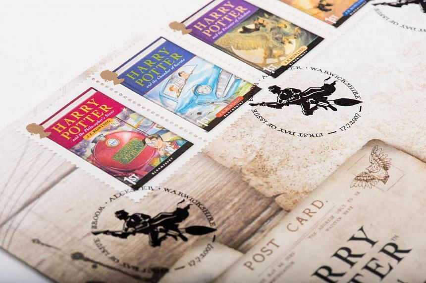 Postcards and stamps from the Singapore Philatelic Museum's first-ever exhibition of Harry Potter stamps.