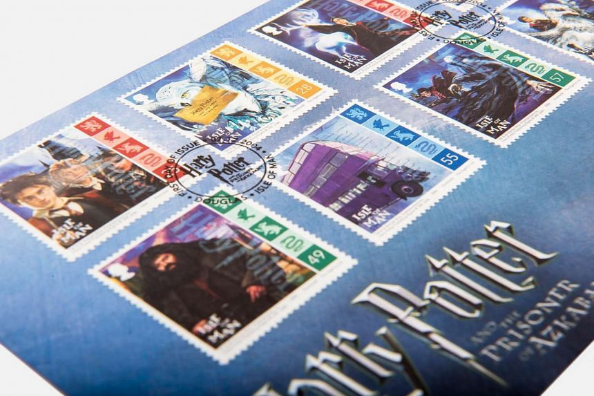 Stamps from the Singapore Philatelic Museum's first-ever exhibition of Harry Potter stamps.