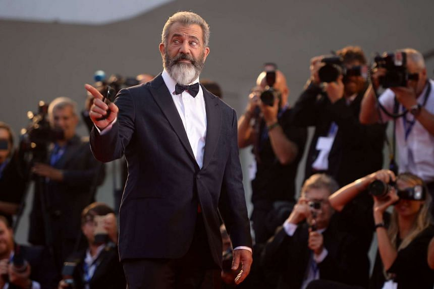 Mel Gibson arrives for the premiere of Hacksaw Ridge presented out competition at the 73rd Venice Film Festival on Sept 4, 2016 at Venice Lido.