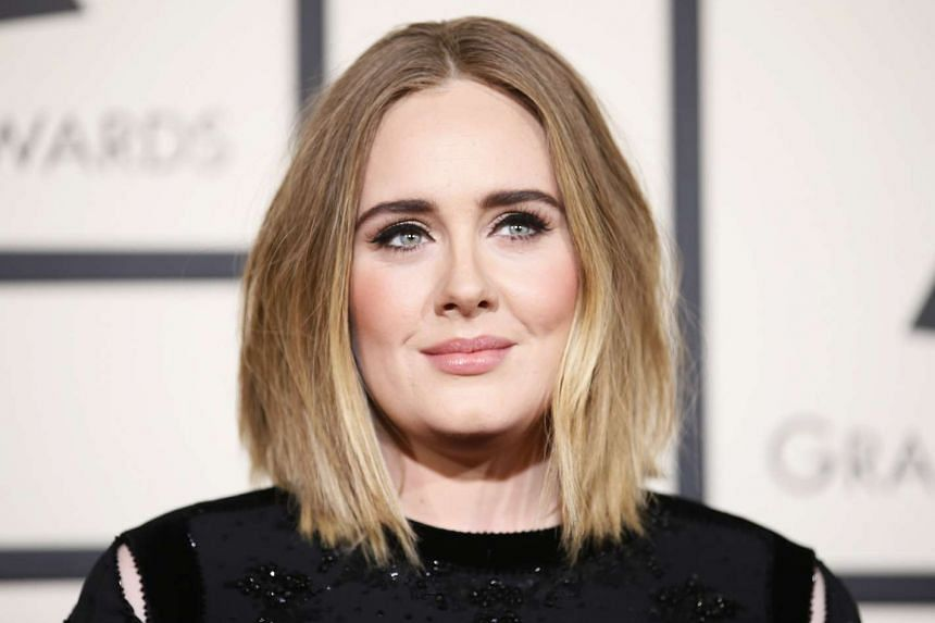 Singer Adele arrives at the 58th Grammy Awards in Los Angeles, California.