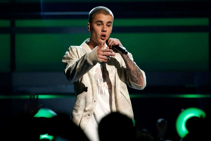 Justin Bieber performs a medley of songs at the 2016 Billboard Awards in Las Vegas.