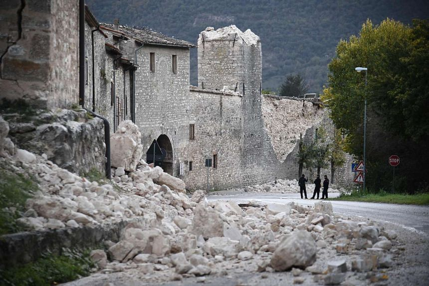 Norcia on Oct 31, 2016, a day after a 6.6 magnitude earthquake hit central Italy, and four days after quakes of 5.5 and 6.1 magnitude hit the same area.