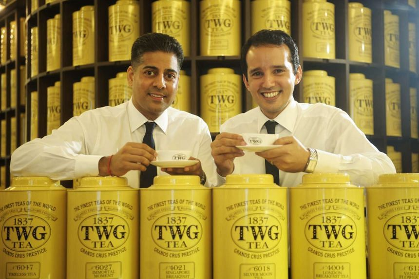 Mr Manoj Murjani (left) and Mr Taha Bouqdib, founders of home-grown brand TWG Tea. The Wellness Group, which Mr Murjani is chairman and founder, lost an appeal against against the chief of lifestyle company Osim International and others.