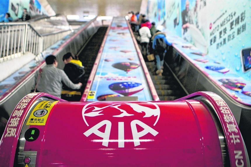 About 50 per cent of fiscal first-half sales by AIA's Hong Kong unit were generated from Chinese visitors, AIA said. Sales of insurance to Chinese visitors in Hong Kong have surged since August last year, when a surprise devaluation of the yuan, the