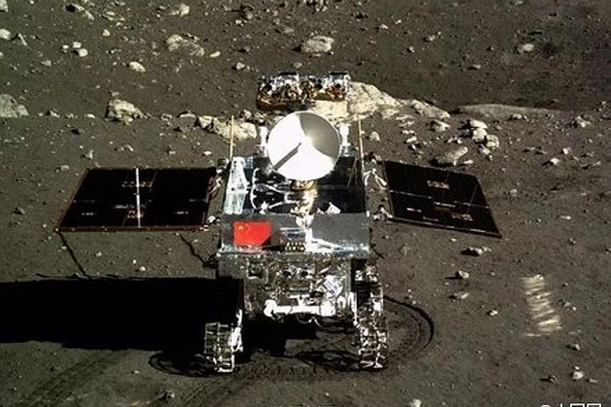 Moon rover Yu Tu touched down on the lunar surface on Dec 15, 2013.