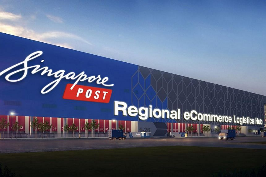 An artist's impression of the SingPost's eCommerce Logistics Hub in Tampines LogisPark.