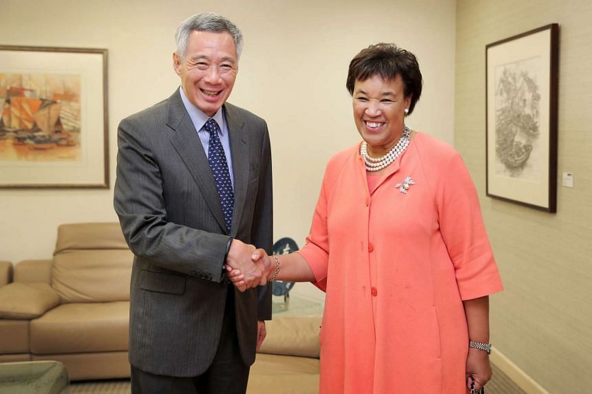 Commonwealth Secretary-General Particia Scotland called on Prime Minister Lee Hsien Loong on Wednesday (Nov 2).
