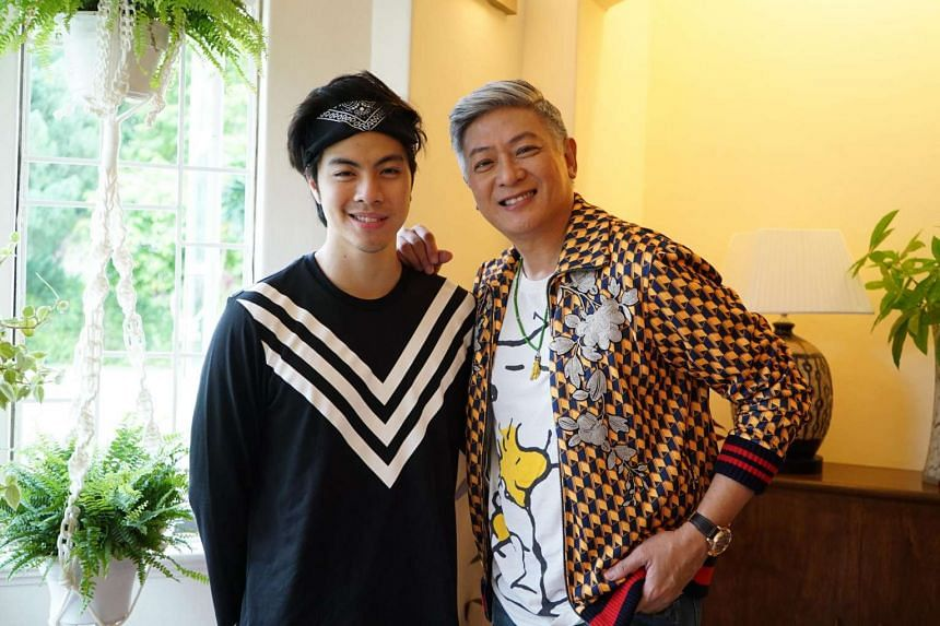 Local singer from The Sam Willows, Benjamin Kheng (left) with Singapore icon Dick Lee (right).