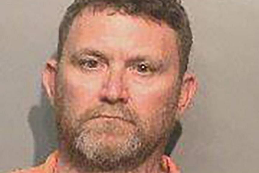 Scott Michael Greene of Urbandale, Iowa, USA. Greene is the suspect in the murder of two police officers.