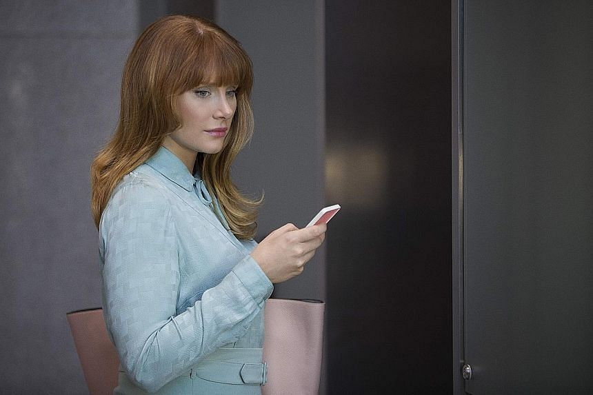 Actress Bryce Dallas Howard (above) plays Lacie, a woman consumed with improving her falling social-media score, in Nosedive.
