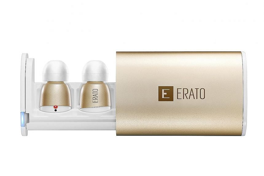 Erato's Apollo 7 comes in a nifty carrying case that doubles as a charging dock.