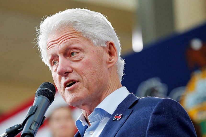 Former US president Bill Clinton campaigns on behalf of his wife, Democratic US presidential nominee Hillary Clinton, on Oct 18, 2016.