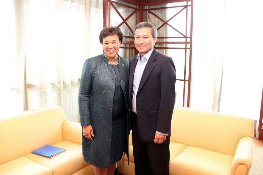 Commonwealth Secretary-General Patricia Scotland paid an introductory call on Minister for Foreign Affairs Vivian Balakrishnan on Nov 1, 2016.