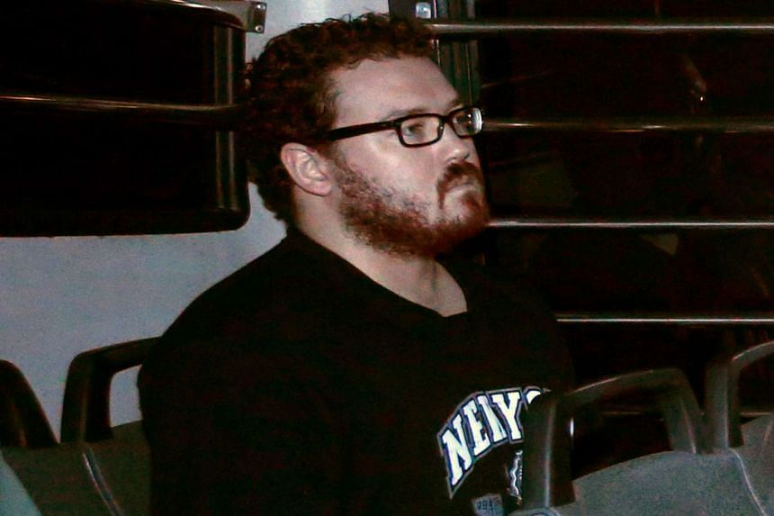 Rurik Jutting arriving at the Eastern Law Courts in Hong Kong on Nov 24, 2014.