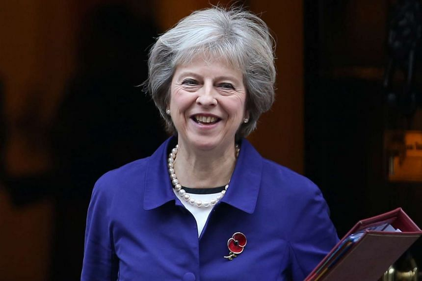 British Prime Minister Theresa May leaves 10 Downing Street in London on Nov 2, 2016.