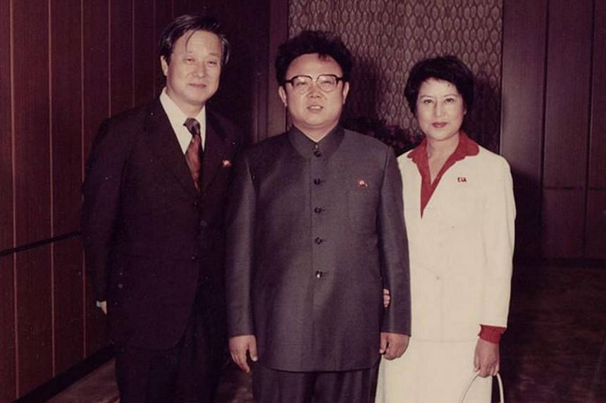 The late North Korean leader Kim Jong Il (centre) with actress Choi Eun Hee and director Shin Sang Ok of The Lovers And The Despot.