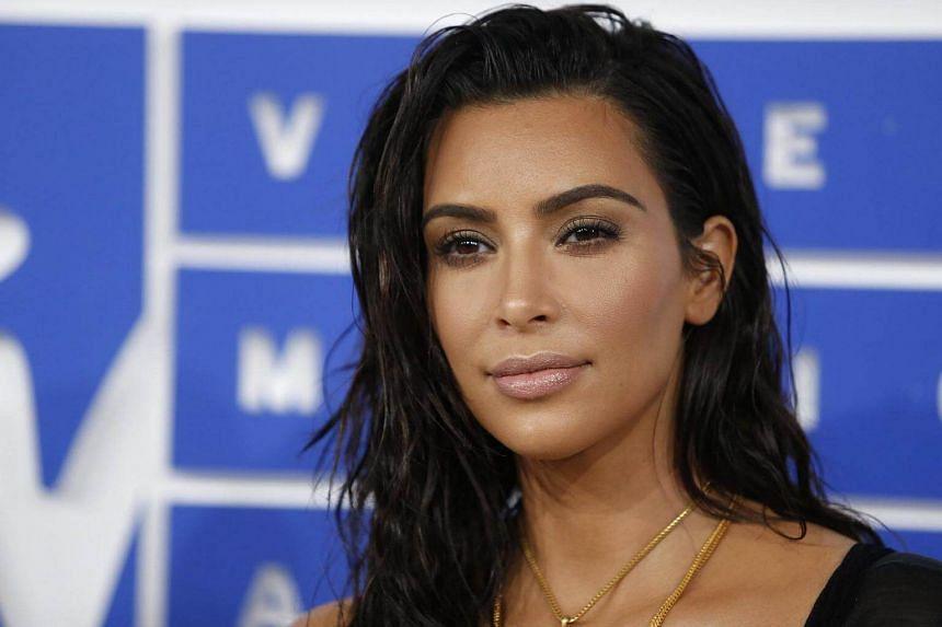 Kim Kardashian arrives at the 2016 MTV Video Music Awards in New York, US, on Aug 28, 2016.