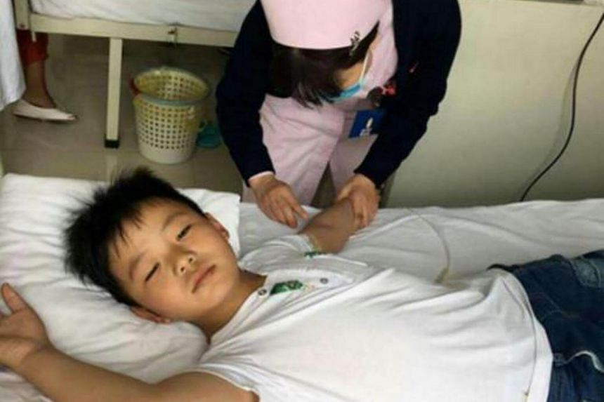 Eight-year-old Cao Yinpeng stuffed himself at every meal to put on weight so he could undergo a bone marrow transplant and save his father.