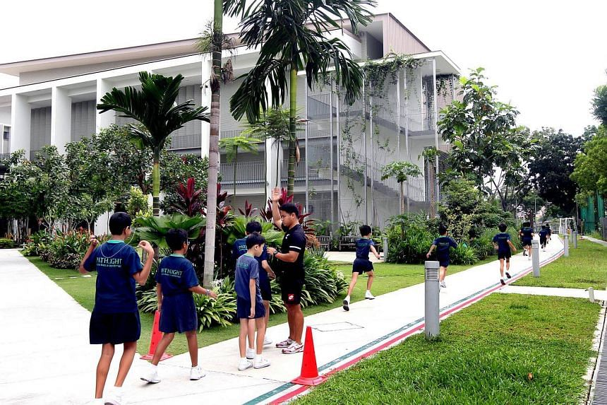 Students at Pathlight School's two-year-old campus in Ang Mo Kio.