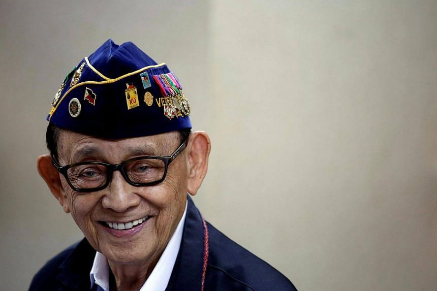 Former Philippine President Fidel Ramos reacts as he speaks to journalists during a trip to Hong Kong, China, after a Hague court's ruling over the maritime dispute in South China Sea on Aug 12, 2016.